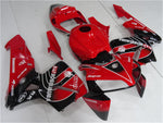 NT Aftermarket Injection ABS Plastic Fairing Kit Fit for CBR600RR 2005 2006 Red Black N101 Available in IL