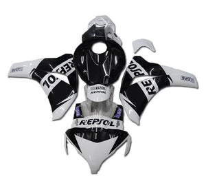 NT Aftermarket Injection ABS Plastic Fairing Fit for CBR1000RR 2008-2011 White Black N007 Available in TX