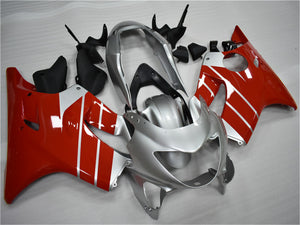 NT Aftermarket Injection ABS Plastic Fairing Fit for CBR600 F4 119999-2000 Silver Red N035