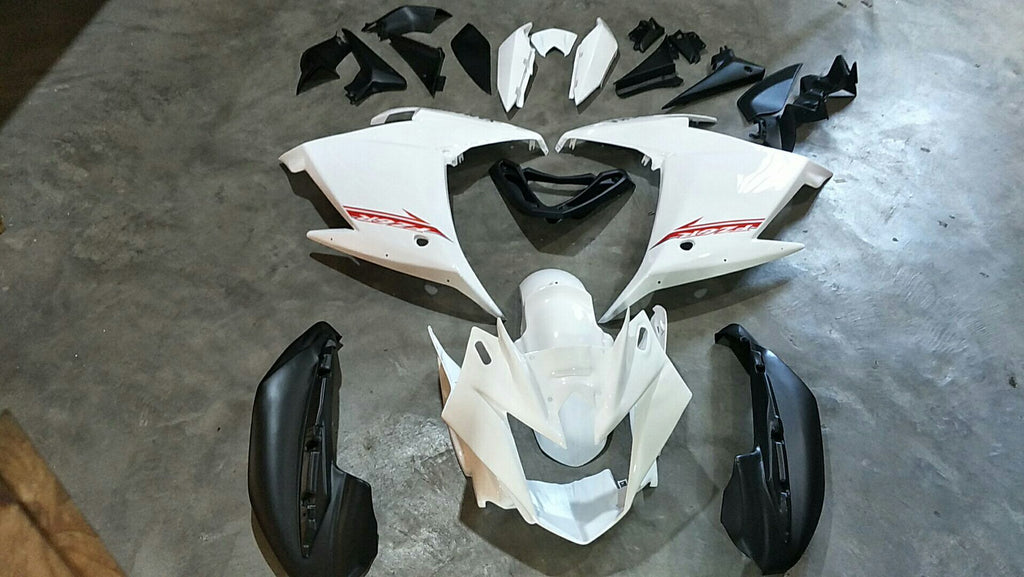 Aftermarket Fairing Kit Fit for Yamaha FZ6R White Black