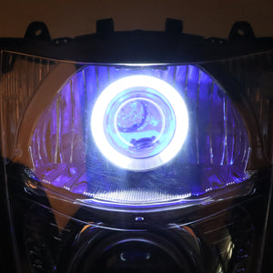 Front Motorcycle Headlight Blue Demon Angel Eye for SUZUKI HAYABUSA GSXR 1300 GEN2 2008-2019 Available in IL