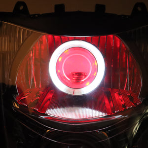 Front Motorcycle Headlight Red Demon Angel Eye for SUZUKI HAYABUSA GSXR 1300 GEN2 2008-2019 Available in IL