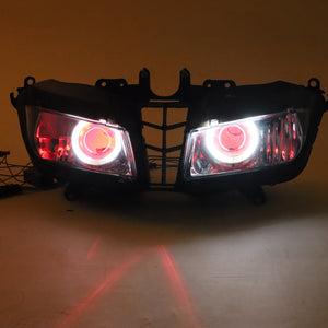 Front Motorcycle Headlight Red Angel Eye Fit Honda 2013-2018 CBR600RR F5 Available in IL