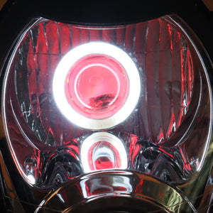 Front Motorcycle Headlight Red Demon Angel Eye for SUZUKI HAYABUSA GSXR 1300 GEN1 1997-2007 Available in IL