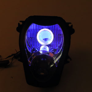 Front Motorcycle Headlight Blue Demon Angel Eye for SUZUKI HAYABUSA GSXR 1300 GEN1 1997-2007 Available in IL