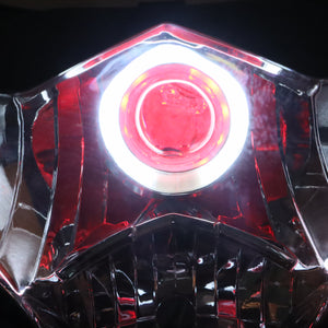 Front Motorcycle Headlight Red Angel Eye Fit Suzuki 2009-2016 GSXR1000 K9 Available in IL