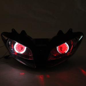 Front Motorcycle Headlight Red Angel Eye Fit Yamaha 2002-2003 YZF R1 Available in IL
