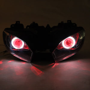 Front Motorcycle Headlight Red Angel Eye Fit Yamaha 1998-2002 YZF R6