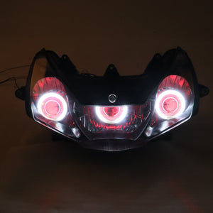 Front Motorcycle Headlight Red Angel Eye Fit Honda 2002-2003 CBR900RR CBR954RR Available in IL