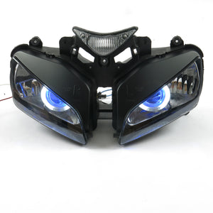 Front Motorcycle Headlight Blue Angel Eye Fit Honda 2004-2007 CBR1000RR Available in IL