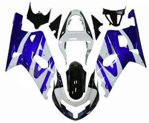 NT Aftermarket Injection ABS Plastic Fairing Fit for GSXR 600/750 2001-2003 Blue White N015 Available in TX