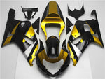 NT Aftermarket Injection ABS Plastic Fairing Fit for GSXR 600/750 2001-2003 Golden Black N018
