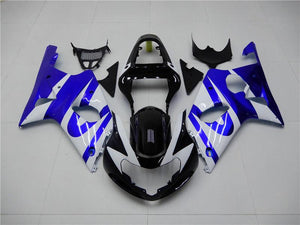 NT Aftermarket Injection ABS Plastic Fairing Fit for GSXR 1000 2000-2002 Blue White N010 Available in TX