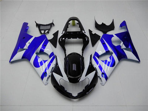 NT Aftermarket Injection ABS Plastic Fairing Fit for GSXR 1000 2000-2002 Blue White N010