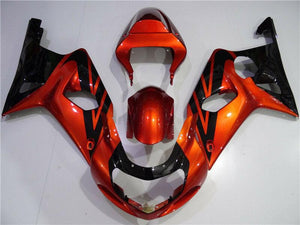 NT Aftermarket Injection ABS Plastic Fairing Fit for GSXR 1000 2000-2002 Orange Black N006
