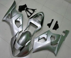 NT Aftermarket Injection ABS Plastic Fairing Fit for GSXR 1000 2003-2004 Silver N007 Available in TX