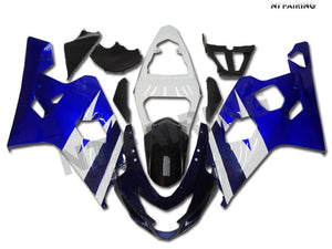 NT Aftermarket Injection ABS Plastic Fairing Fit for GSXR 600/750 2004-2005 Blue White N005 Available in IL