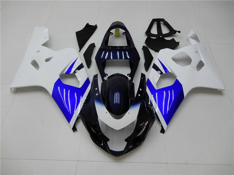 NT Aftermarket Injection ABS Plastic Fairing Fit for GSXR 600/750 2004-2005 White Blue N007 Available in KY