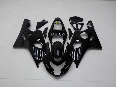 NT Aftermarket Injection ABS Plastic Fairing Fit for GSXR 600/750 2004-2005 Glossy Black N009