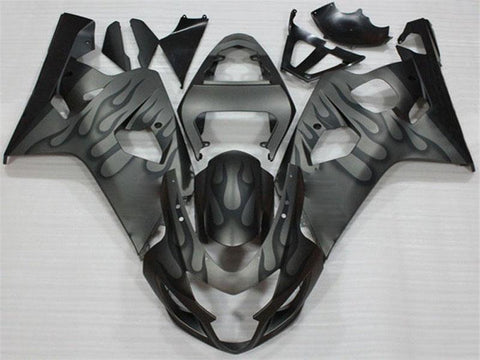 NT Aftermarket Injection ABS Plastic Fairing Fit for GSXR 600/750 2004-2005 Black Gray N015