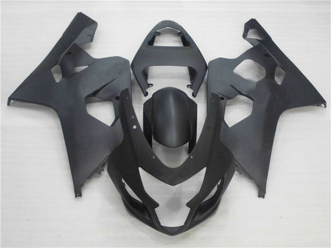NT Aftermarket Injection ABS Plastic Fairing Fit for GSXR 600/750 2004-2005 Matte Black N048