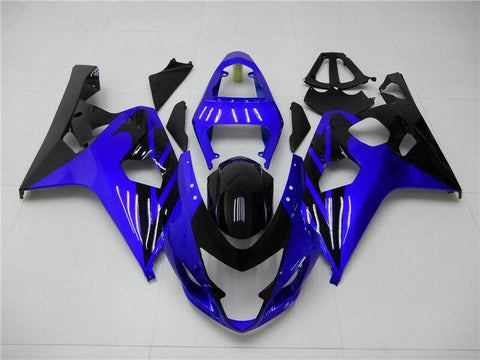 NT Aftermarket Injection ABS Plastic Fairing Fit for GSXR 600/750 2004-2005 Blue Black N050 Available in IL