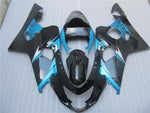 NT Aftermarket Injection ABS Plastic Fairing Fit for GSXR 600/750 2004-2005 Blue Black N082