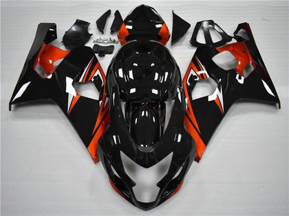 NT Aftermarket Injection ABS Plastic Fairing Fit for GSXR 600/750 2004-2005 Orange Black N011 Available in TX