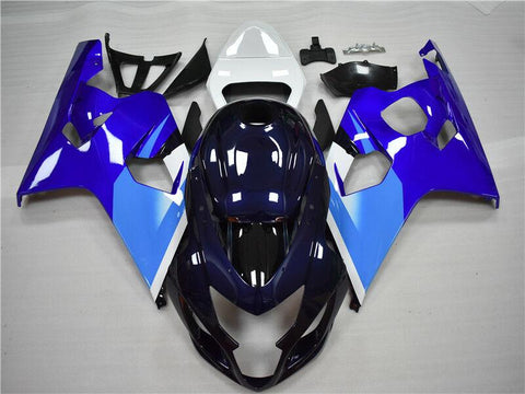 NT Aftermarket Injection ABS Plastic Fairing Fit for GSXR 600/750 2004-2005 Blue White N024