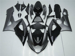 NT Aftermarket Injection ABS Plastic Fairing Fit for GSXR 1000 2005-2006 Gray Black N050