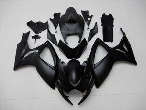 NT Aftermarket Injection ABS Plastic Fairing Fit for GSXR 600/750 2006-2007 Matte Black N002 Available in TX