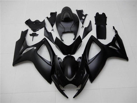 NT Aftermarket Injection ABS Plastic Fairing Fit for GSXR 600/750 2006-2007 Matte Black N002