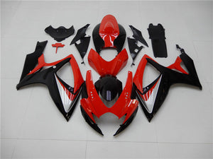 NT Aftermarket Injection ABS Plastic Fairing Fit for GSXR 600/750 2006-2007 Red Black N003 Available in IL