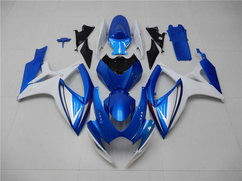 NT Aftermarket Injection ABS Plastic Fairing Kit Fit for GSXR 600/750 2006 2007 Blue White N092