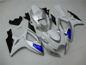 NT Aftermarket Injection ABS Plastic Fairing Fit for GSXR 600/750 2006-2007 White Blue Black N095 Available in TX