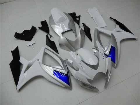 NT Aftermarket Injection ABS Plastic Fairing Fit for GSXR 600/750 2006-2007 White Blue Black N095