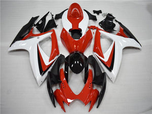 NT Aftermarket Injection ABS Plastic Fairing Fit for GSXR 600/750 2006-2007 Red Black White N097 Available in TX