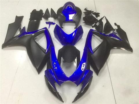 NT Aftermarket Injection ABS Plastic Fairing Fit for GSXR 600/750 2006-2007 Black Blue N104