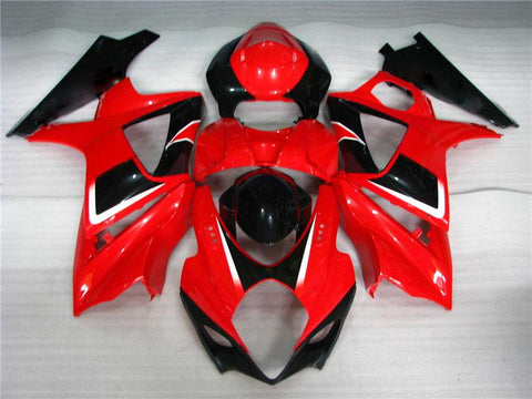 NT Aftermarket Injection ABS Plastic Fairing Fit for GSXR 1000 2007-2008 Red Black N043