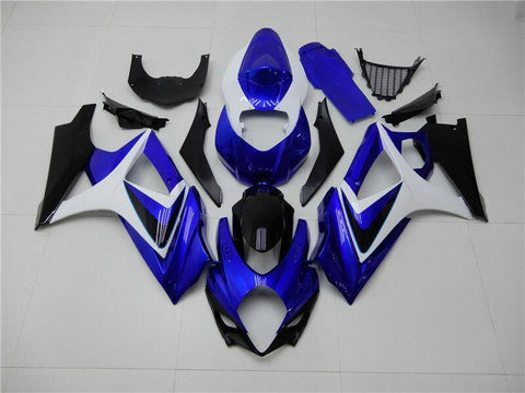 NT Aftermarket Injection ABS Plastic Fairing Fit for GSXR 1000 2007-2008 Blue White Black N051 Available in CA TX IL