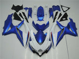 NT Aftermarket Injection ABS Plastic Fairing Fit for GSXR 600/750 2008-2010 White Blue N004