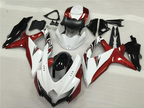 NT Aftermarket Injection ABS Plastic Fairing Fit for GSXR 600/750 2008-2010 White Red Black N011
