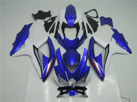 NT Aftermarket Injection ABS Plastic Fairing Fit for GSXR 600/750 2008-2010 Blue White N066