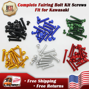 Complete Fairing Bolts Kit Screws Fit for KAWASAKI NINJA ZX6R 636 2003 2005-2009 EX250R 2008-2012 Black Silver Gold Red Green Blue