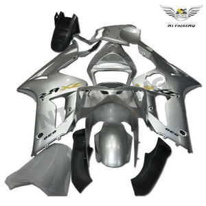 NT Aftermarket Injection ABS Plastic Fairing Fit for ZX6R 636 2003-2004 Silver N027