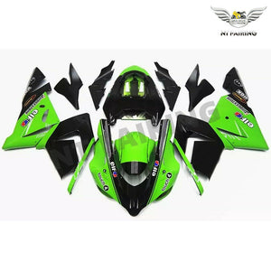 NT Aftermarket Injection ABS Plastic Fairing Fit for ZX10R 2004-2005 Green Black N009