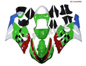 NT Green Red White Blue Plastic Injection Fairing Fit for Kawasaki 2005 2006 ZX6R 636 N039 Available in TX