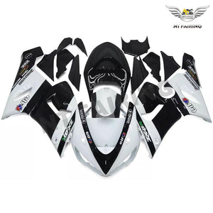 NT White Black Plastic Injection Fairing Fit for Kawasaki 2005 2006 ZX6R 636 N033 Available in TX