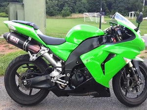 NT Aftermarket Injection ABS Plastic Fairing Fit for ZX10R 2006-2007 Green Black N007 Available in IL
