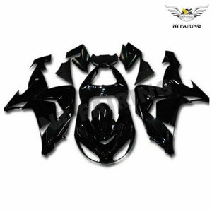NT Aftermarket Injection ABS Plastic Fairing Fit for ZX10R 2006-2007 Glossy Black N016